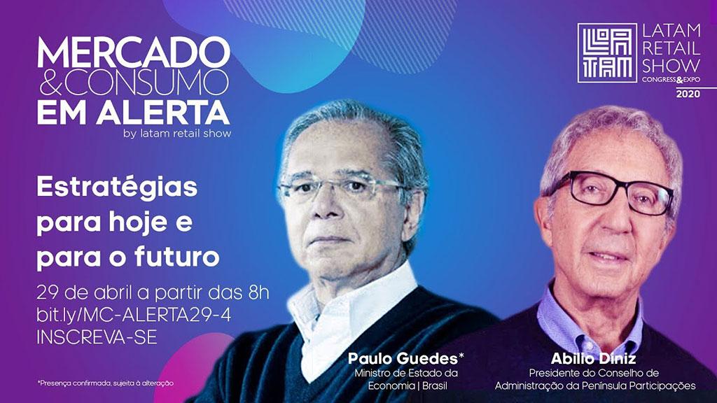 Quatro pontos de destaque durante a live da Gouvêa de Souza com Paulo Guedes e Abilio Diniz