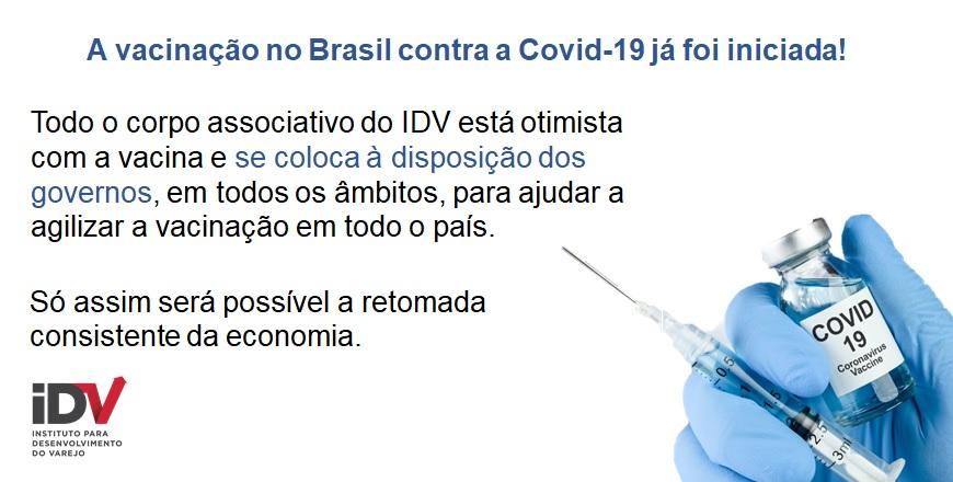 A vacinação no Brasil contra a Covid-19 já foi iniciada!