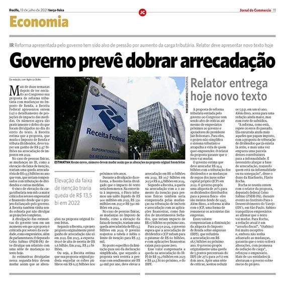 IR: Governo prevê dobrar arrecadação